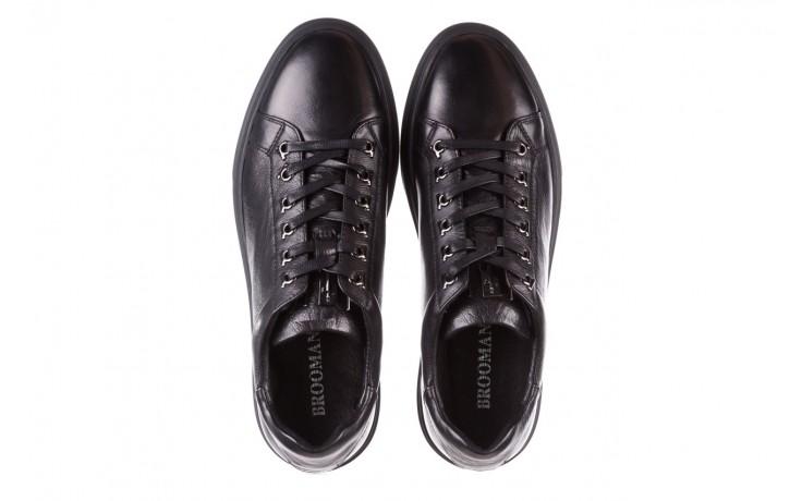 Trampki brooman a641-1a black, czarny, skóra naturalna  - buty męskie - mężczyzna 4