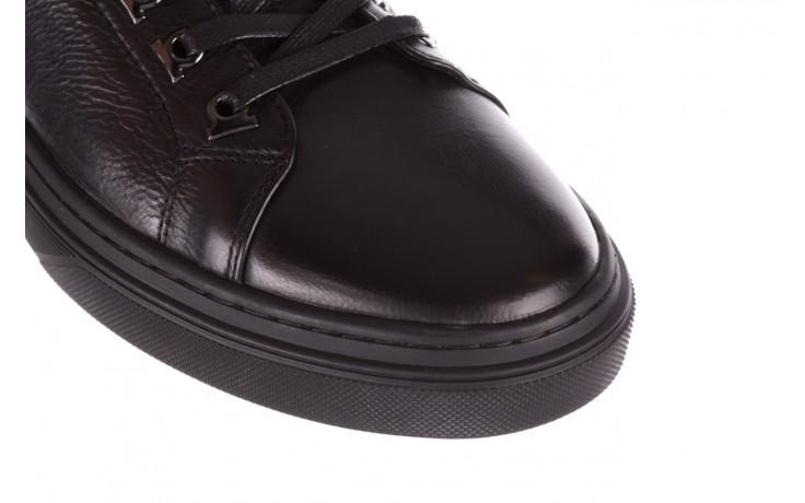 Trampki brooman a641-1a black, czarny, skóra naturalna  - buty męskie - mężczyzna 5