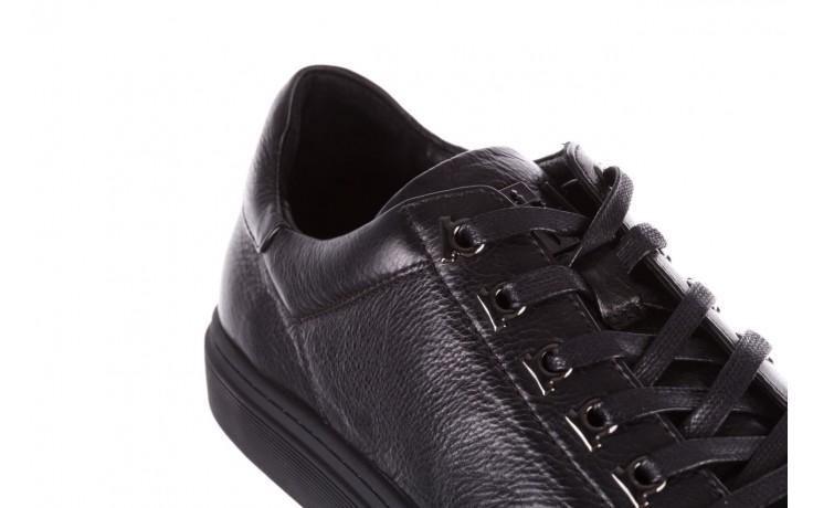 Trampki brooman a641-1a black, czarny, skóra naturalna  - buty męskie - mężczyzna 6
