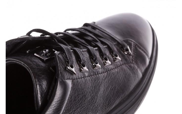 Trampki brooman a641-1a black, czarny, skóra naturalna  - buty męskie - mężczyzna 8