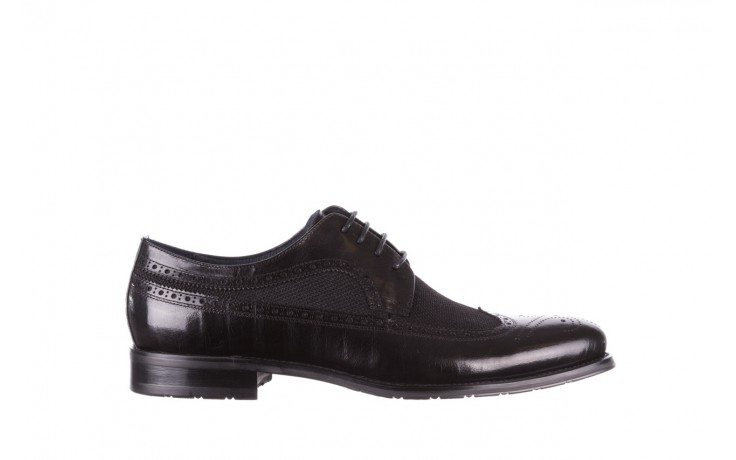 Półbuty brooman b-800-179 black, czarny, skóra naturalna  - sale - buty męskie - mężczyzna