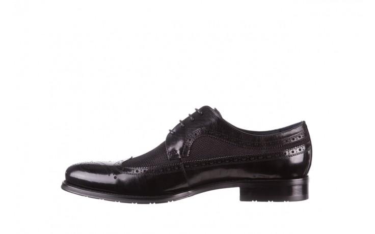 Półbuty brooman b-800-179 black, czarny, skóra naturalna  - sale - buty męskie - mężczyzna 2