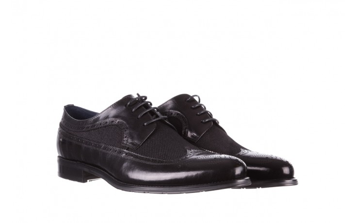 Półbuty brooman b-800-179 black, czarny, skóra naturalna  - sale - buty męskie - mężczyzna 1