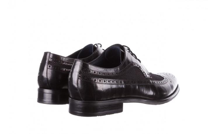 Półbuty brooman b-800-179 black, czarny, skóra naturalna  - sale - buty męskie - mężczyzna 3