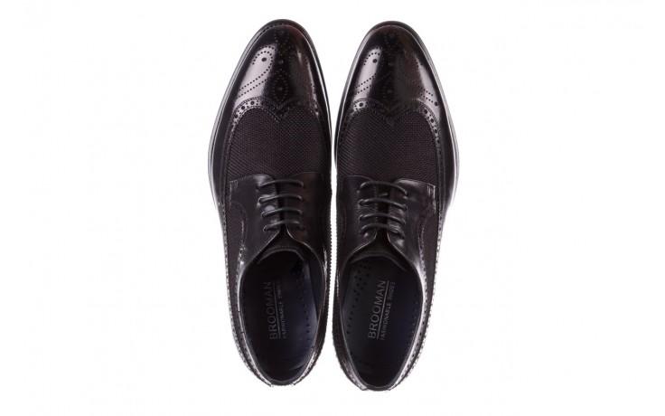 Półbuty brooman b-800-179 black, czarny, skóra naturalna  - sale - buty męskie - mężczyzna 4