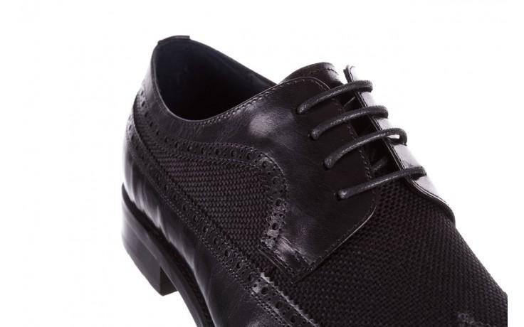 Półbuty brooman b-800-179 black, czarny, skóra naturalna  - sale - buty męskie - mężczyzna 5