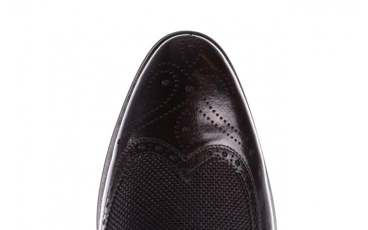 Półbuty brooman b-800-179 black, czarny, skóra naturalna  - sale - buty męskie - mężczyzna 6