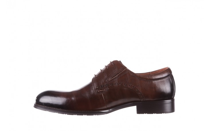 Półbuty brooman y008-26-a15 brown, brązowy, skóra naturalna  - buty męskie - mężczyzna 2