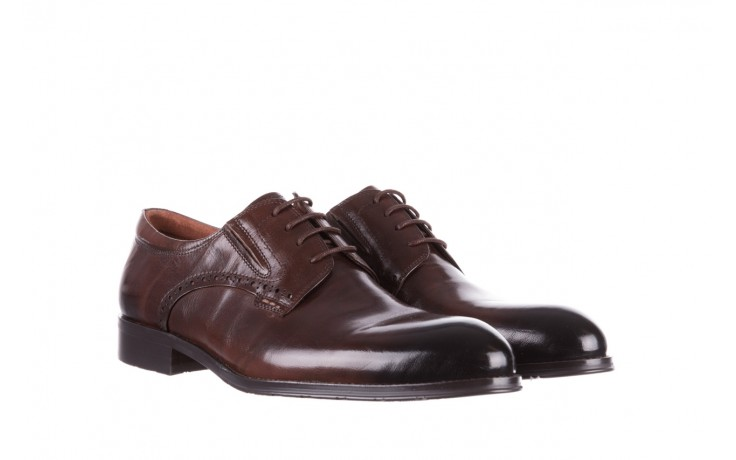 Półbuty brooman y008-26-a15 brown, brązowy, skóra naturalna  - buty męskie - mężczyzna 1