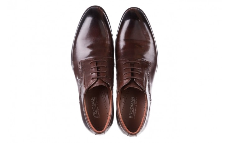 Półbuty brooman y008-26-a15 brown, brązowy, skóra naturalna  - buty męskie - mężczyzna 4