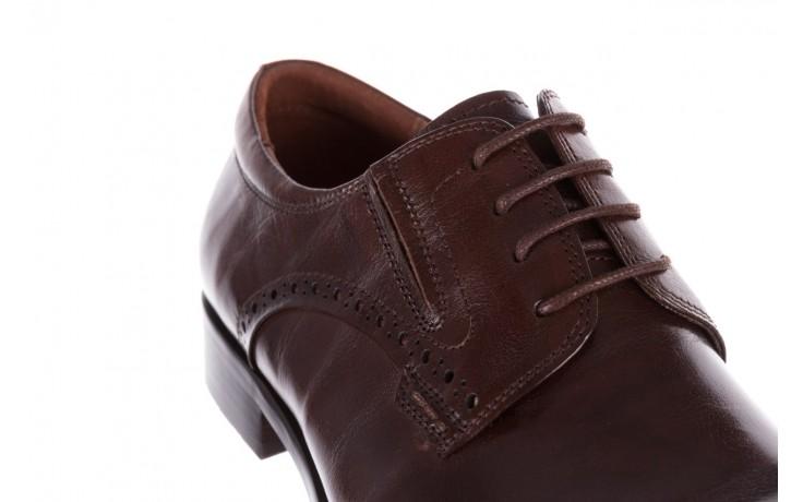 Półbuty brooman y008-26-a15 brown, brązowy, skóra naturalna  - buty męskie - mężczyzna 5