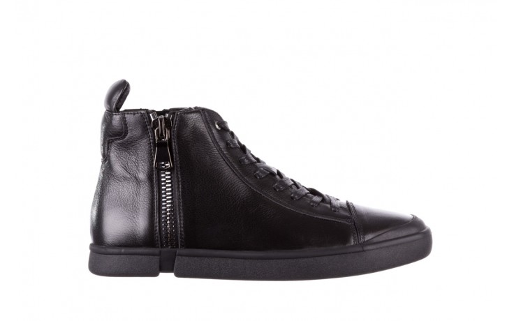 Trampki john doubare m5761-1 black 19, czarny, skóra naturalna  - sale - buty męskie - mężczyzna