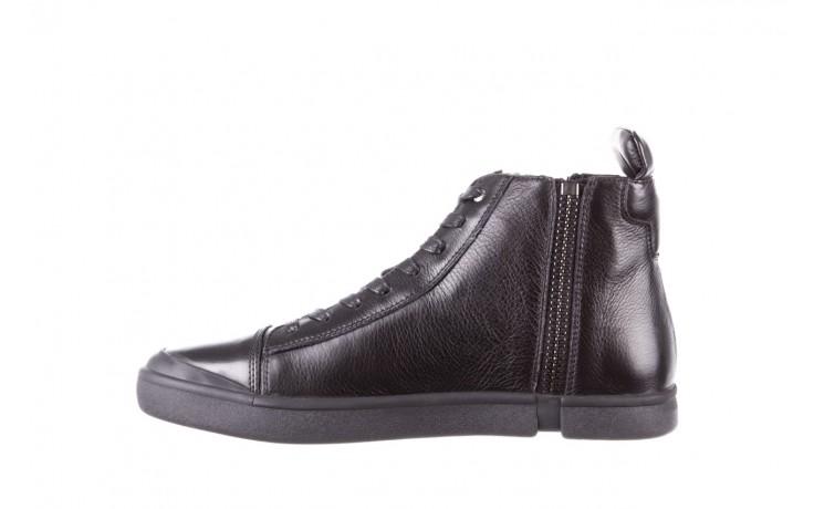 Trampki john doubare m5761-1 black 19, czarny, skóra naturalna  - sale - buty męskie - mężczyzna 2
