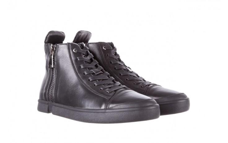 Trampki john doubare m5761-1 black 19, czarny, skóra naturalna  - sale - buty męskie - mężczyzna 1