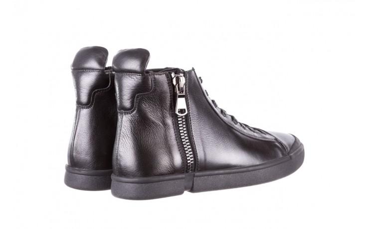 Trampki john doubare m5761-1 black 19, czarny, skóra naturalna  - trampki - dla niego - sale 3