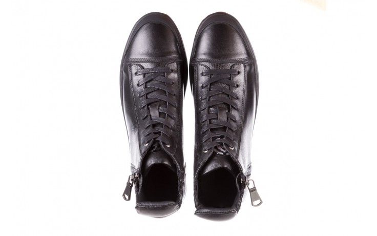 Trampki john doubare m5761-1 black 19, czarny, skóra naturalna  - sale - buty męskie - mężczyzna 4
