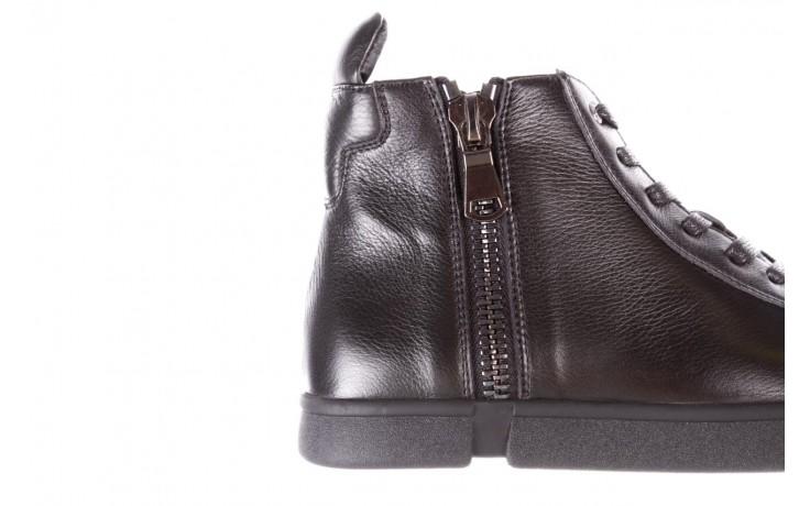 Trampki john doubare m5761-1 black 19, czarny, skóra naturalna  - sale - buty męskie - mężczyzna 7