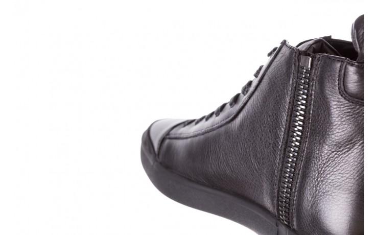 Trampki john doubare m5761-1 black 19, czarny, skóra naturalna  - sale - buty męskie - mężczyzna 9