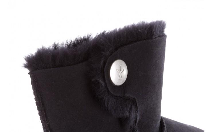 Śniegowce emu ore black, czarny, skóra naturalna 5