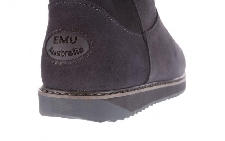 Śniegowce emu paterson classic mini dark grey, szary, skóra naturalna  - śniegowce - śniegowce i kalosze - buty damskie - kobieta 5