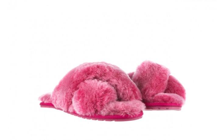 Klapki emu mayberry frost berry, róż, futro naturalne  - sale 1