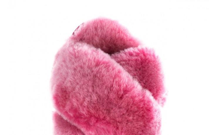 Klapki emu mayberry frost berry, róż, futro naturalne  - sale 6