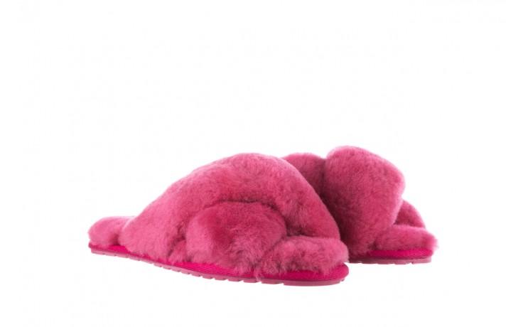 Klapki emu mayberry berry, róż, futro naturalne  - mega okazje - ostatnie rozmiary 1