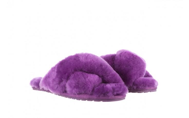 Klapki emu mayberry purple, fiolet, futro naturalne  - sale 1
