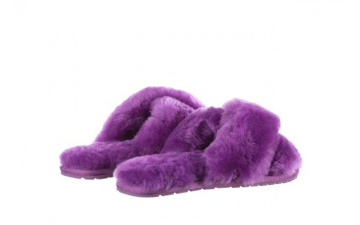 Klapki emu mayberry purple, fiolet, futro naturalne  - sale 3