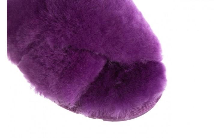 Klapki emu mayberry purple, fiolet, futro naturalne  - sale 5