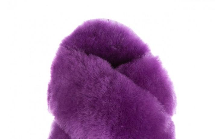 Klapki emu mayberry purple, fiolet, futro naturalne  - sale 6