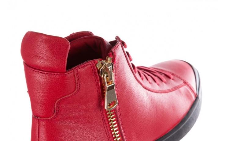 Trampki john doubare m5761-3 red, czerwony, skóra naturalna - mężczyzna 5