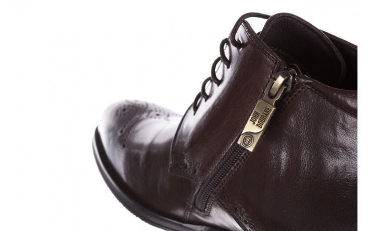 Trzewiki john doubare 992b-716g132-r brown, brąz, skóra naturalna - obuwie wizytowe - buty męskie - mężczyzna 8