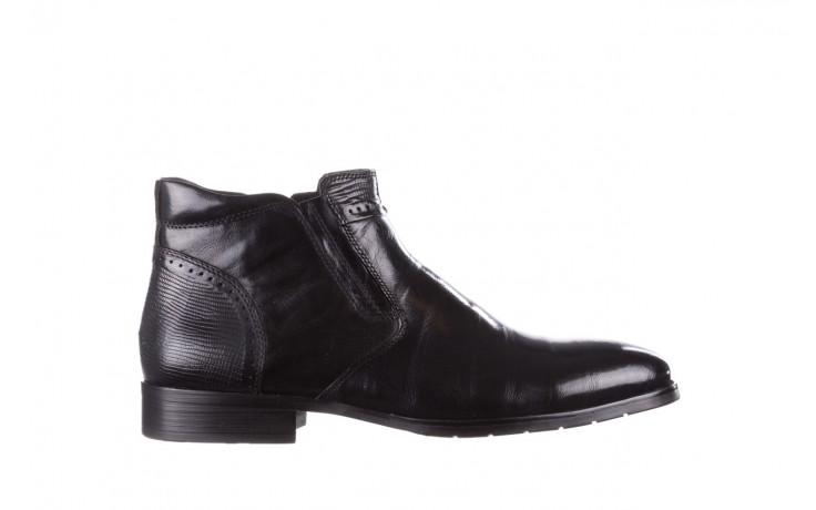 Trzewiki john doubare 212h-50-n001 black, czarny, skóra naturalna - buty męskie - mężczyzna