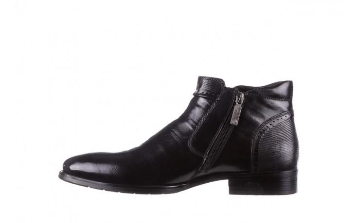 Trzewiki john doubare 212h-50-n001 black, czarny, skóra naturalna - buty męskie - mężczyzna 2