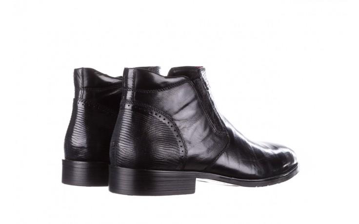 Trzewiki john doubare 212h-50-n001 black, czarny, skóra naturalna - buty męskie - mężczyzna 3