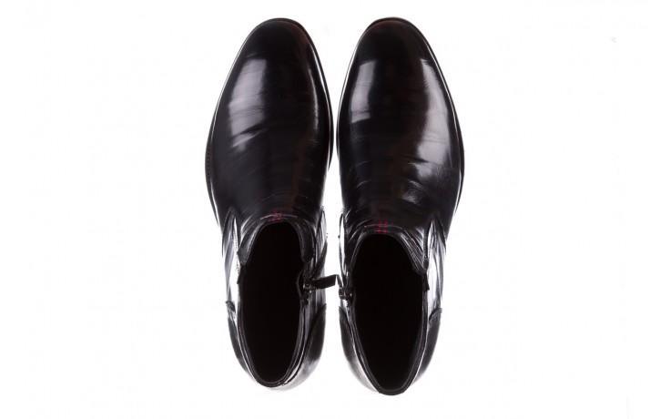 Trzewiki john doubare 212h-50-n001 black, czarny, skóra naturalna - buty męskie - mężczyzna 4