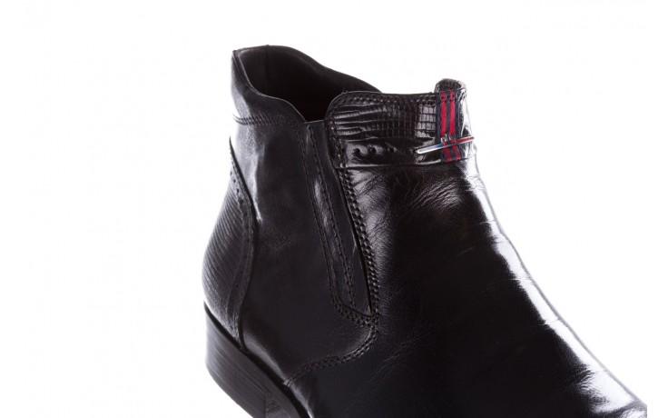 Trzewiki john doubare 212h-50-n001 black, czarny, skóra naturalna - buty męskie - mężczyzna 9