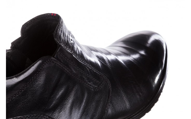 Trzewiki john doubare 212h-50-n001 black, czarny, skóra naturalna - buty męskie - mężczyzna 8