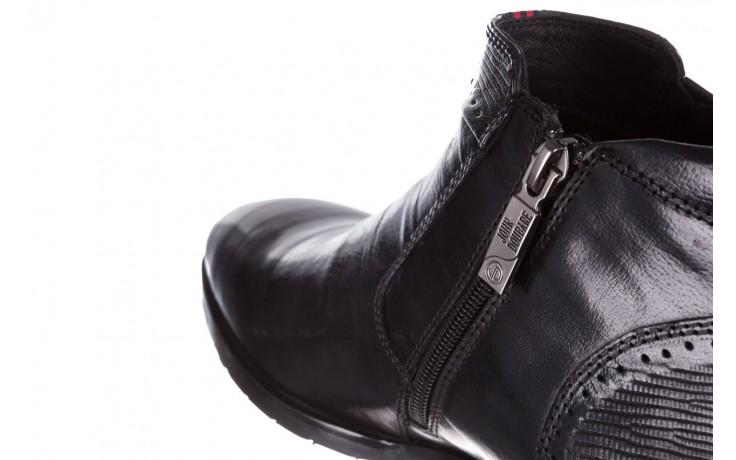 Trzewiki john doubare 212h-50-n001 black, czarny, skóra naturalna - buty męskie - mężczyzna 7