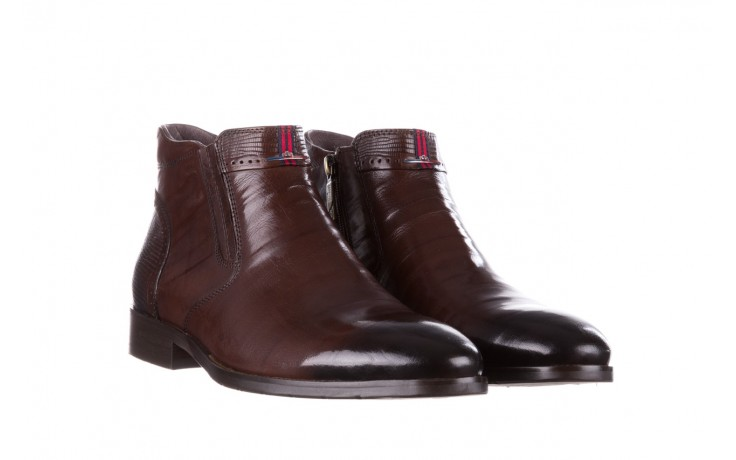 Trzewiki john doubare 212h-50-n002r brown, brąz, skóra naturalna - obuwie wizytowe - buty męskie - mężczyzna 1