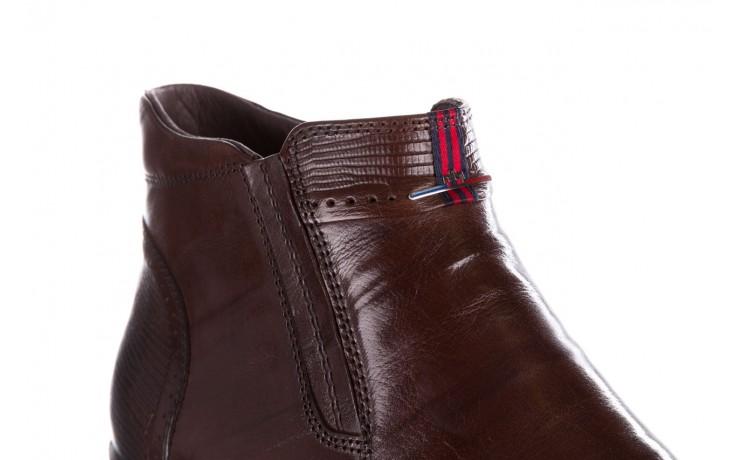 Trzewiki john doubare 212h-50-n002r brown, brąz, skóra naturalna - obuwie wizytowe - buty męskie - mężczyzna 5