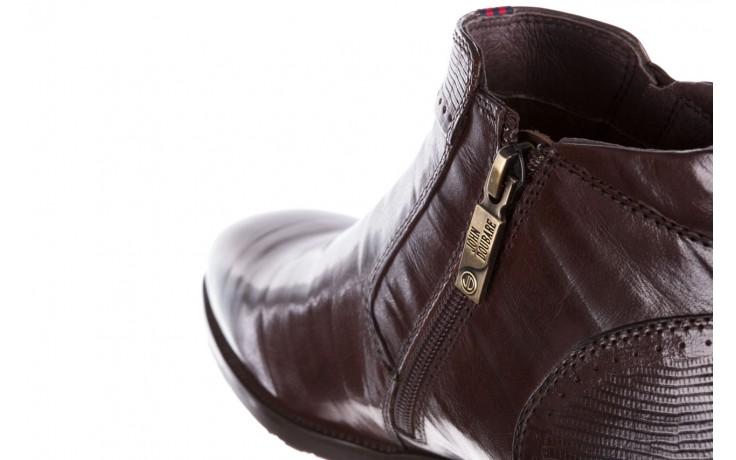 Trzewiki john doubare 212h-50-n002r brown, brąz, skóra naturalna - obuwie wizytowe - buty męskie - mężczyzna 7