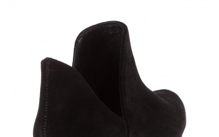 Botki bayla-157 b028-126-p czarny, skóra naturalna - zamszowe - botki - buty damskie - kobieta 7