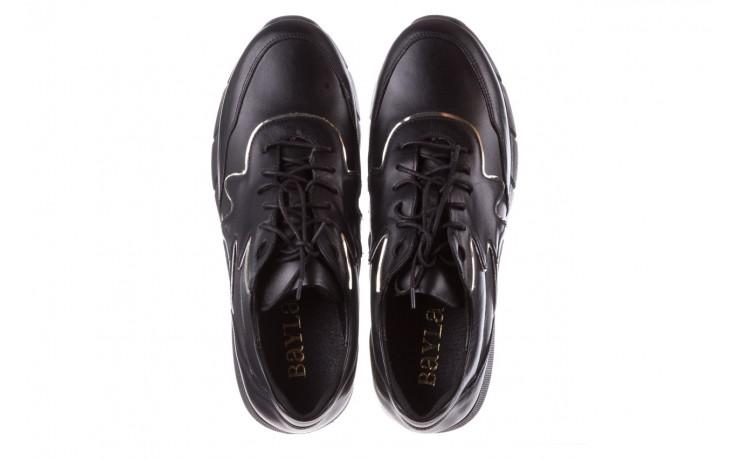 Trampki bayla-157 b026-076-p czarny, skóra naturalna - niskie - trampki - buty damskie - kobieta 5