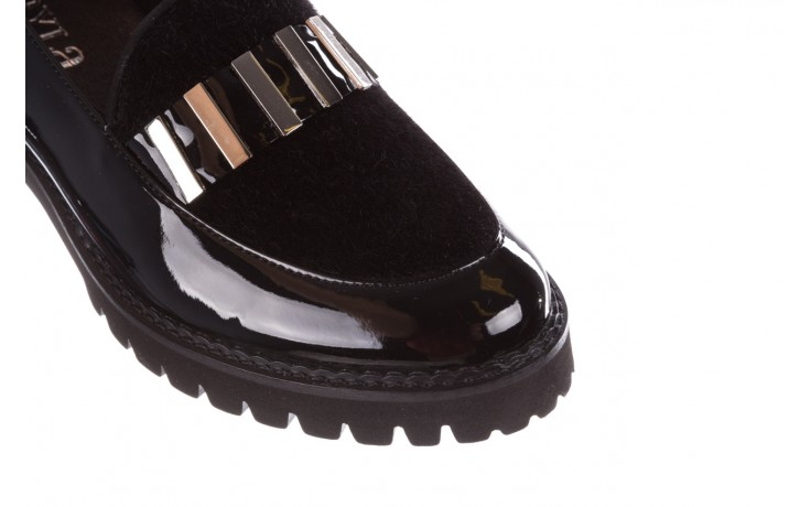 Półbuty bayla-157 b023-126-p czarny, skóra naturalna lakierowana - mokasyny i lordsy - półbuty - buty damskie - kobieta 7