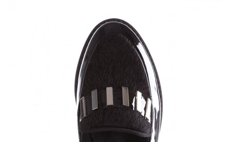 Półbuty bayla-157 b023-126-p czarny, skóra naturalna lakierowana - mokasyny i lordsy - półbuty - buty damskie - kobieta 6