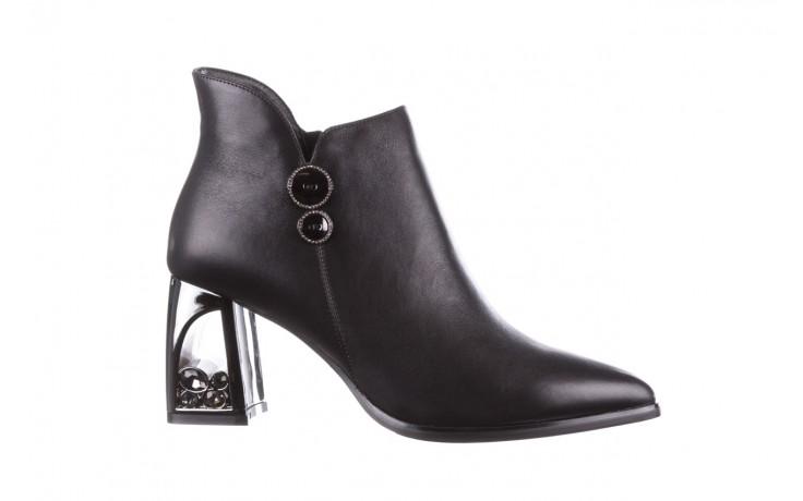 Botki sca'viola f-173 black leather, czarny, skóra naturalna - skórzane - botki - buty damskie - kobieta