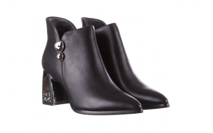 Botki sca'viola f-173 black leather, czarny, skóra naturalna - skórzane - botki - buty damskie - kobieta 1