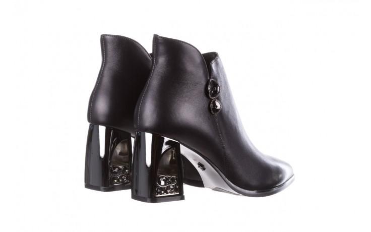 Botki sca'viola f-173 black leather, czarny, skóra naturalna - skórzane - botki - buty damskie - kobieta 4